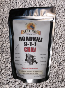 Roadkill 911 Chili dry chili and bean mix.