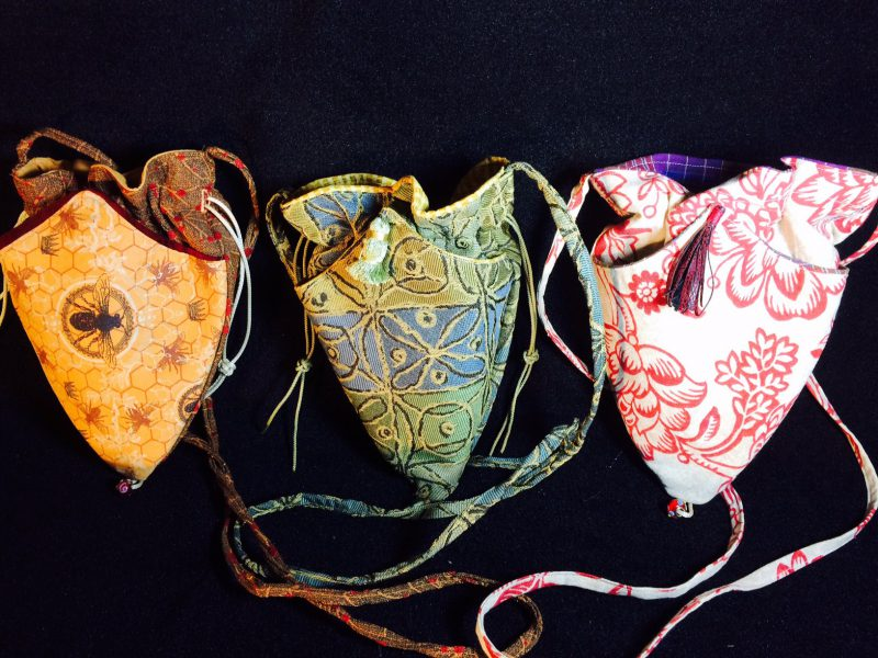 Heart Shaped Drawstring Bags come in an assortment of colors.