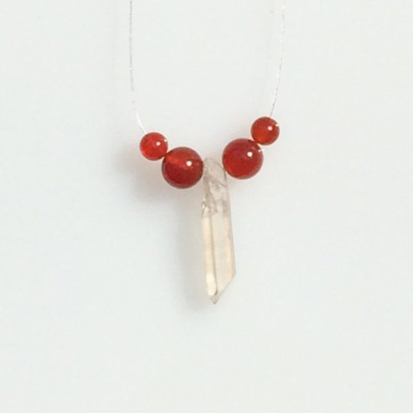 quartz carnelean necklace