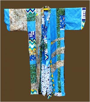 kimono inspired long coat.