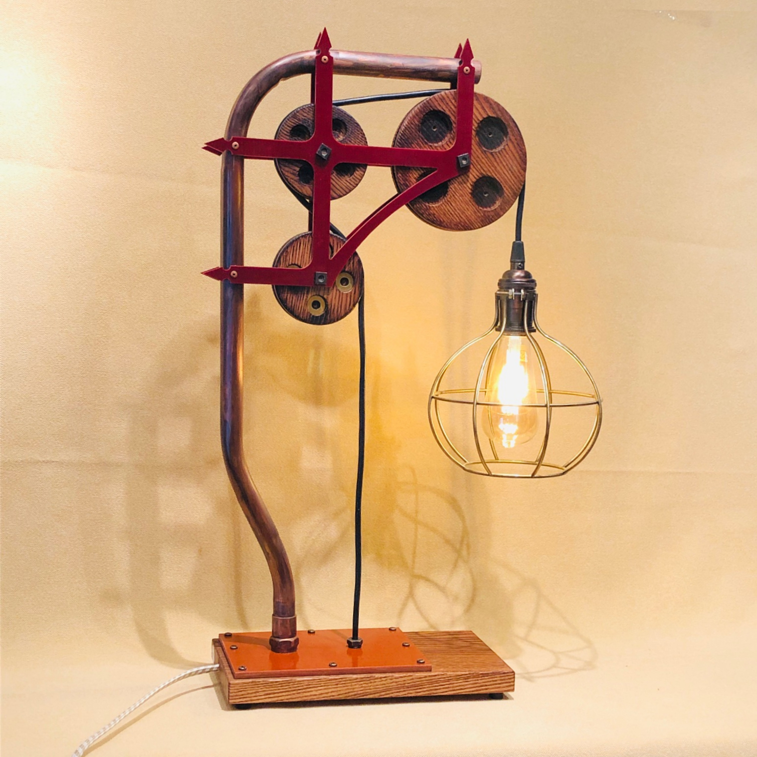 touch dimming copper lamp