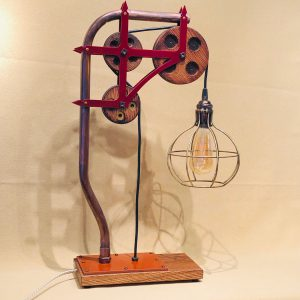 touch dimming copper and chestnut lamp