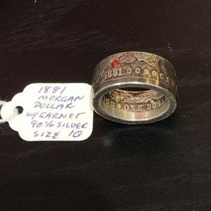 1881morgan dollar coin ring