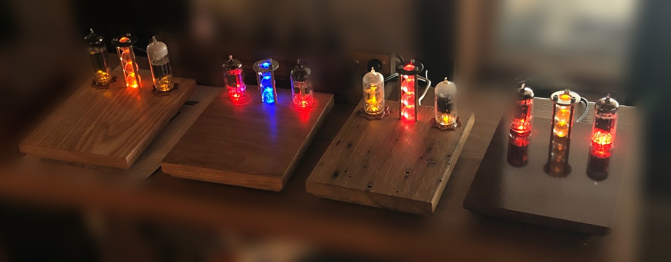 Brightly colored LEDs lend a gentle glow to these wireless cell phone chargers.