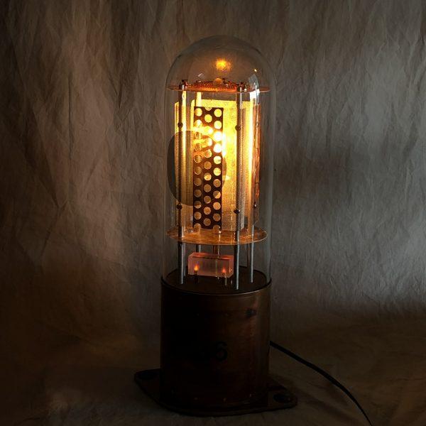 novel table lamp emulates a 1950's era vacuum electron tube