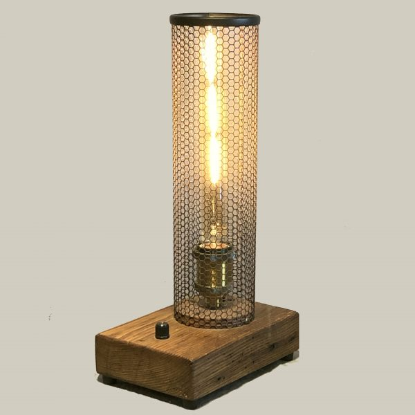 rustic dimmable table lamp
