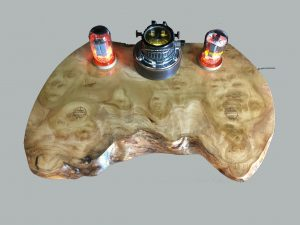 poplar burl wireless chargingstation for 2 phones