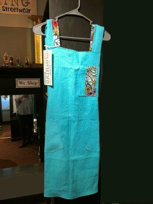 crossback linen apron